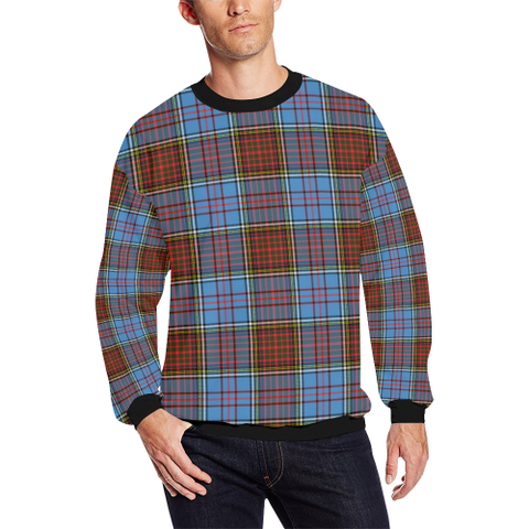 Image of Anderson Modern Tartan Crewneck Sweatshirt TH8