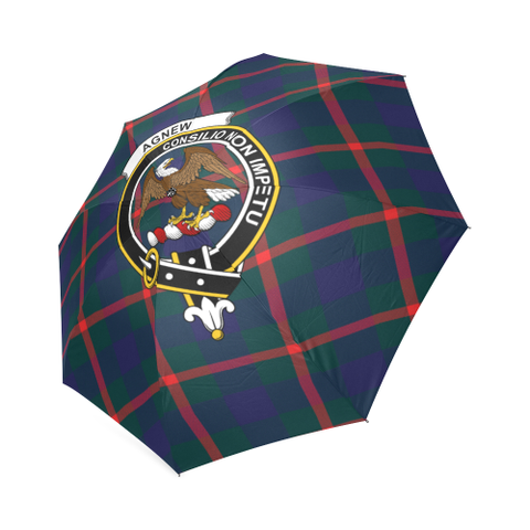 Image of Agnew Modern Crest Tartan Umbrella TH8