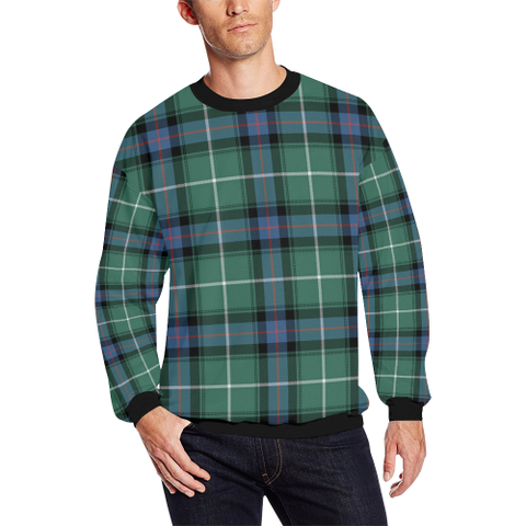 Image of Macdonald Of The Isles Hunting Ancient Tartan Crewneck Sweatshirt TH8