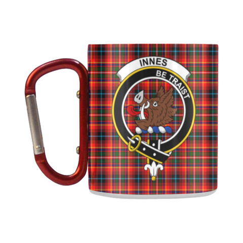 Image of Innes Modern Tartan Mug Classic Insulated - Clan Badge K7