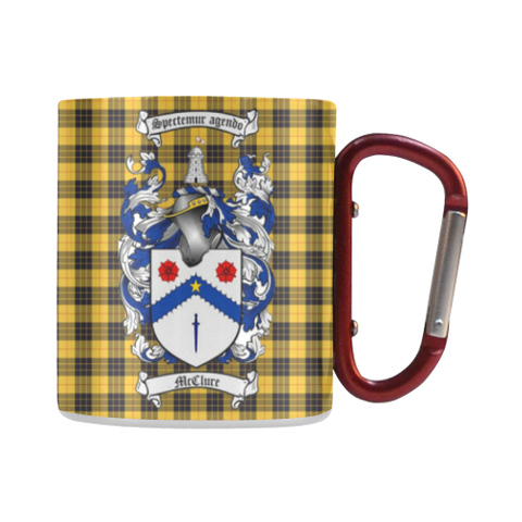 McClure Tartan Mug Classic Insulated - Clan Badge | scottishclans.co