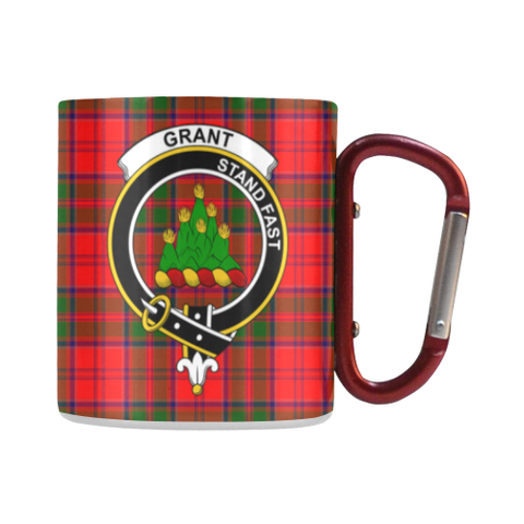 Grant Modern Tartan Mug Classic Insulated - Clan Badge | scottishclans.co