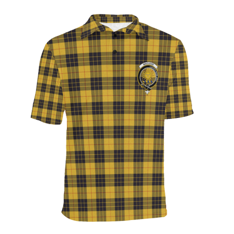 Image of Macleod Of Lewis Ancient Tartan Clan Badge Polo Shirt HJ4