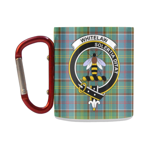 Whitelaw District Tartan Mug Classic Insulated - Clan Badge K7
