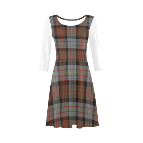 Cameron of Erracht Weathered Tartan 3/4 Sleeve Sundress | Exclusive Over 500 Clans
