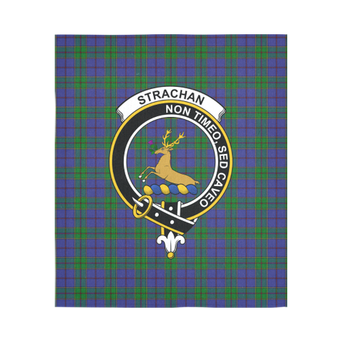 Image of Strachan Tartan Clan Badge Tapestry | Scottish Clans
