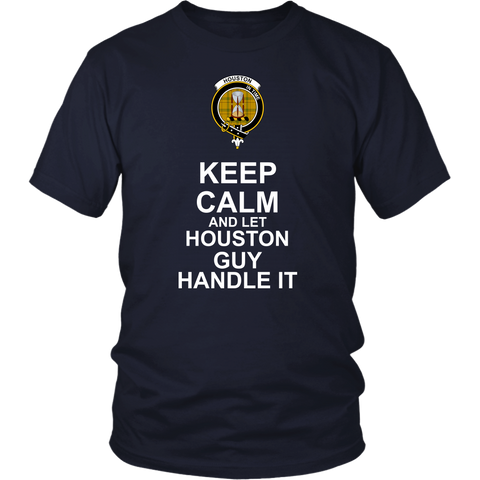 Houston Tartan Keep Calm Guy T-Shirt K7