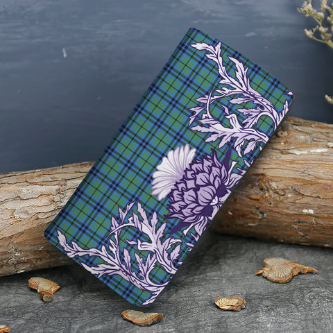 Falconer Tartan Wallet Women's Leather Thistle A91