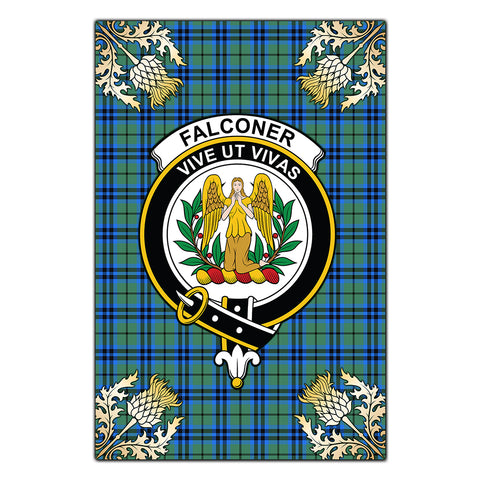 Garden Flag Falconer Clan Crest Gold Thistle New