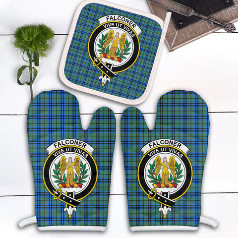 Falconer Clan Crest Tartan Scotland Oven Mitt And Pot-Holder (Set Of Two)