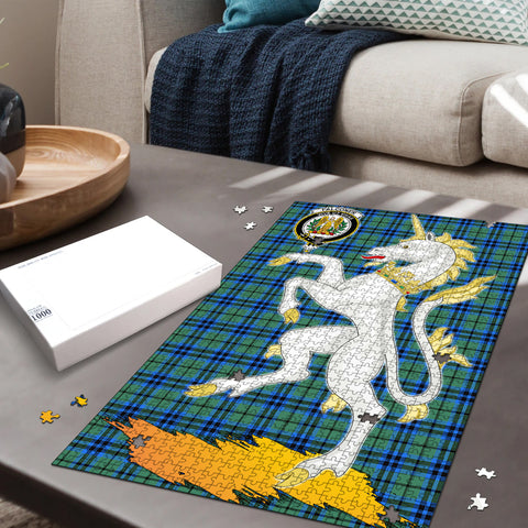 Falconer Clan Crest Tartan Unicorn Scotland Jigsaw Puzzle