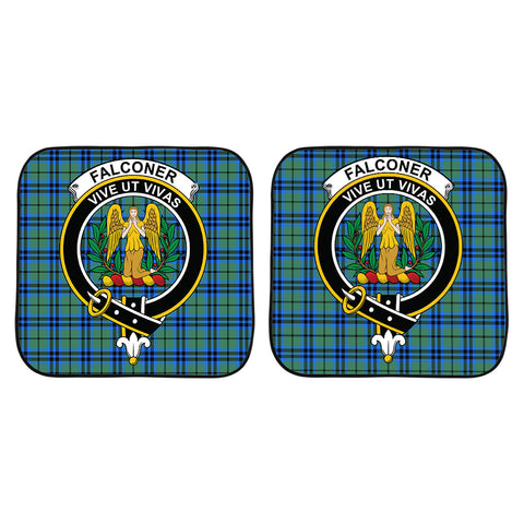 Falconer Clan Crest Tartan Scotland Car Sun Shade 2pcs K7