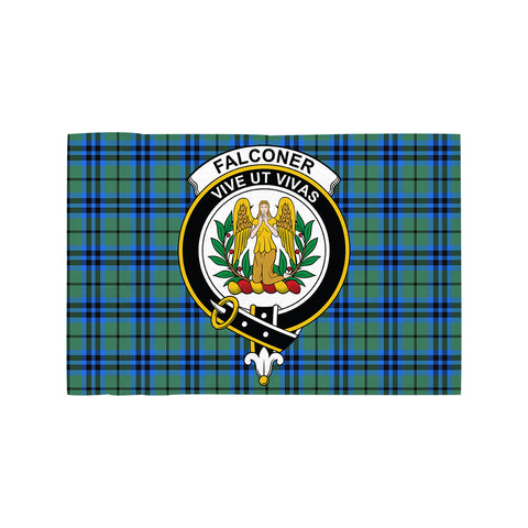 Falconer Clan Crest Tartan Motorcycle Flag