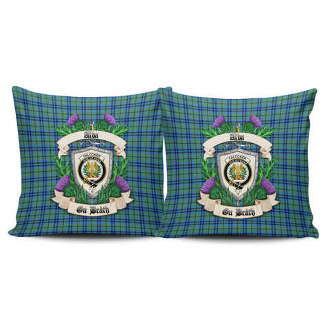 Falconer Crest Tartan Pillow Cover Thistle (Set of two) A91 | Home Set