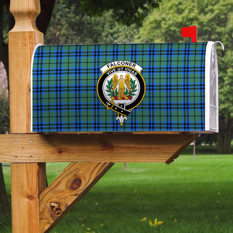 Image of ScottishClan Falconer Tartan Crest Scotland Mailbox A91