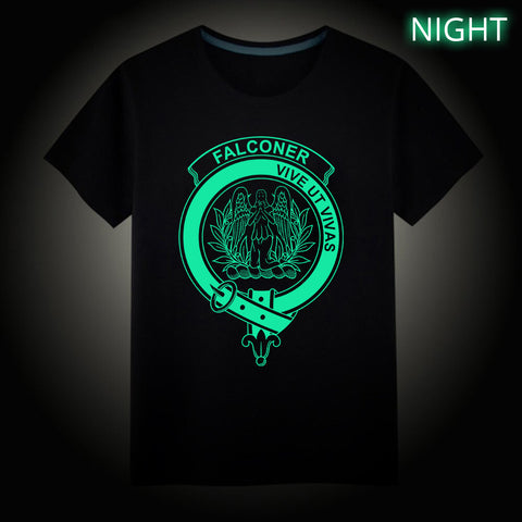 Falconer Crest Scottish Clan Luminous T shirt