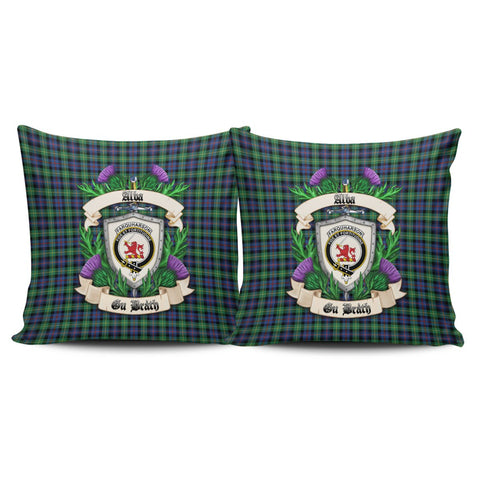 Farquharson Ancient Crest Tartan Pillow Cover Thistle (Set of two) A91 | Home Set