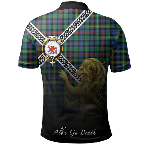Farquharson Ancient Polo Shirts Tartan Crest Celtic Scotland Lion A30