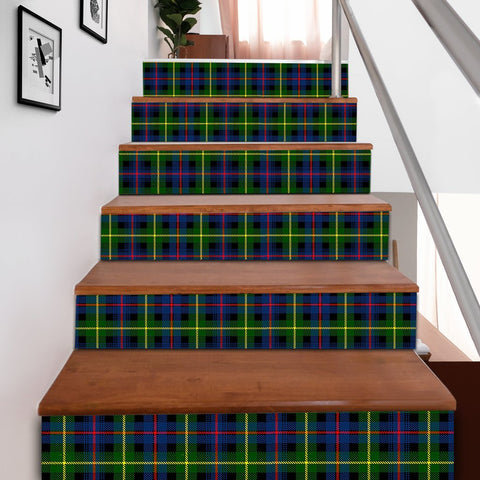 Image of Scottishshop Tartan Stair Stickers - Farquharson Modern Stair Stickers A91
