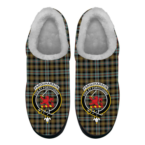 Farquharson Weathered Crest Tartan Fleece Slipper (Women's/Men's) A7