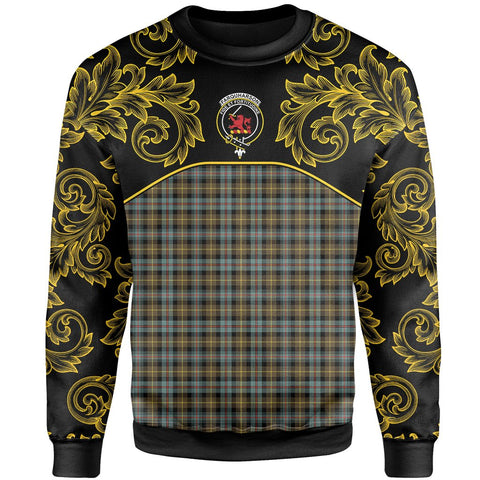 Farquharson Weathered Tartan Clan Crest Sweatshirt - Empire I - HJT4 - Scottish Clans Store - Tartan Clans Clothing - Scottish Tartan Shopping - Clans Crest - Shopping In scottishclans - Sweatshirt For You