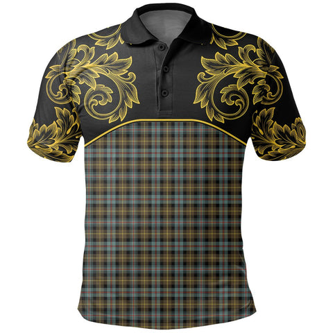 Farquharson Weathered Tartan Clan Crest Polo Shirt - Empire I - HJT4 - Scottish Clans Store - Tartan Clans Clothing - Scottish Tartan Shopping - Clans Crest - Shopping In scottishclans - Polo Shirt For You