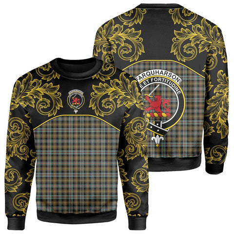 Farquharson Weathered Tartan Clan Crest Sweatshirt - Empire I - HJT4