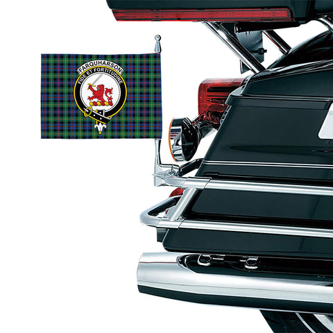 Image of Farquharson Ancient Clan Crest Tartan Motorcycle Flag