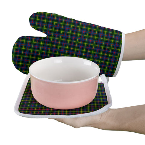 Image of Farquharson Modern Clan Tartan Scotland Oven Mitt And Pot-Holder (Set Of Two)