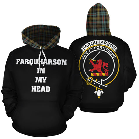 Farquharson Weathered In My Head Hoodie Tartan Scotland K9