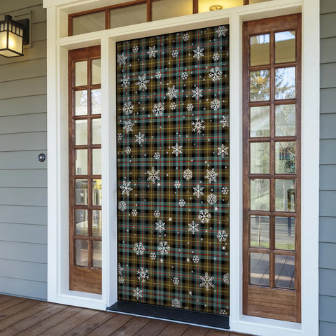 Farquharson Weathered Christmas Tartan Door Sock Cover