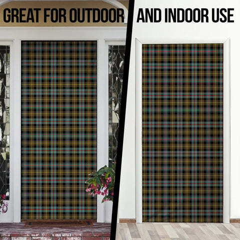 Farquharson Weathered Tartan Door Sock Cover