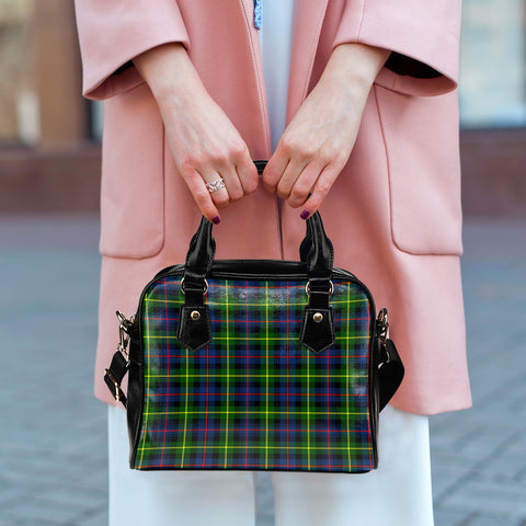 Farquharson Modern Tartan Shoulder Handbag for Women | Hot Sale | Scottish Clans