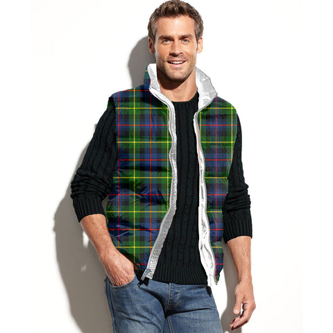 Image of Farquharson Modern Tartan Puffer Vest for Men and Women K7