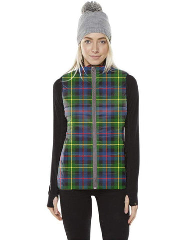 Farquharson Modern Tartan Puffer Vest for Men and Women K7