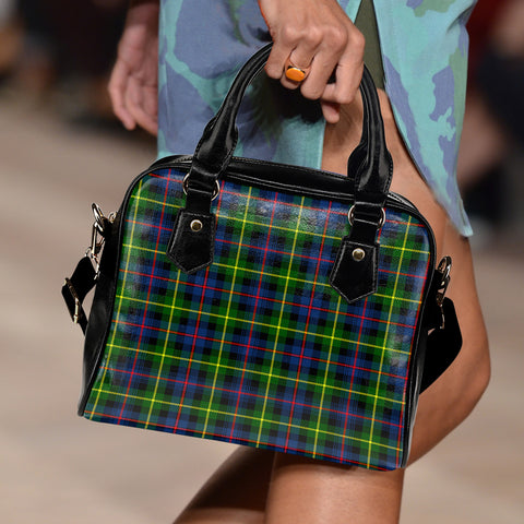 Image of Farquharson Modern Tartan Shoulder Handbag for Women | Hot Sale | Scottish Clans