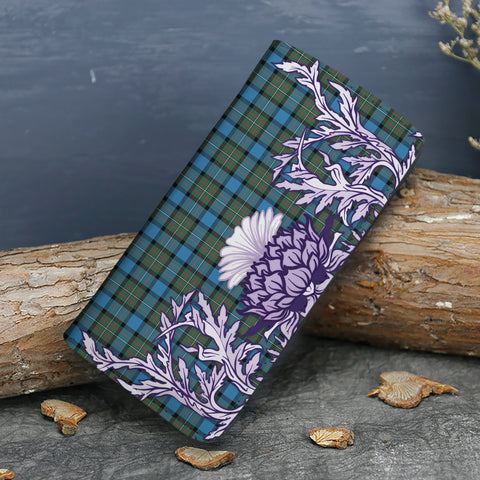 Image of Fergusson Ancient Tartan Wallet Women's Leather Thistle A91