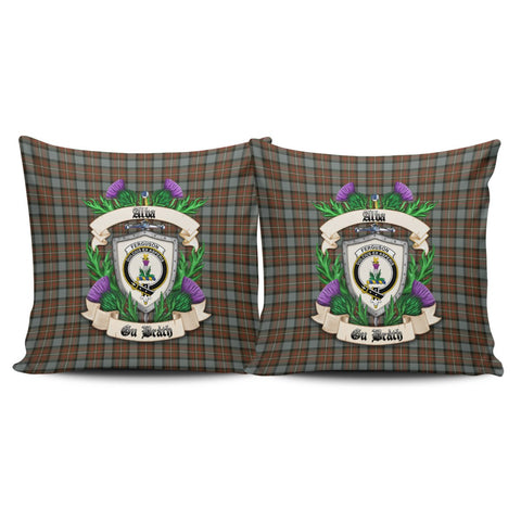 Fergusson Weathered Crest Tartan Pillow Cover Thistle (Set of two) A91 | Home Set