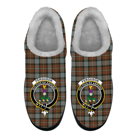 Image of Fergusson Weathered Crest Tartan Fleece Slipper (Women's/Men's) A7