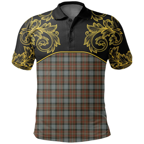 Image of Fergusson Weathered Tartan Clan Crest Polo Shirt - Empire I - HJT4 - Scottish Clans Store - Tartan Clans Clothing - Scottish Tartan Shopping - Clans Crest - Shopping In scottishclans - Polo Shirt For You