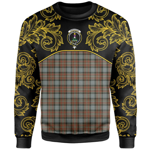 Image of Fergusson Weathered Tartan Clan Crest Sweatshirt - Empire I - HJT4 - Scottish Clans Store - Tartan Clans Clothing - Scottish Tartan Shopping - Clans Crest - Shopping In scottishclans - Sweatshirt For You