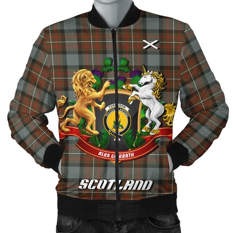 Fergusson Weathered | Tartan Bomber Jacket | Scottish Jacket | Scotland Clothing