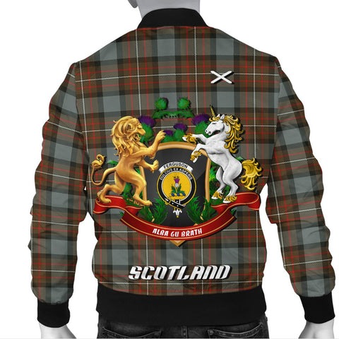 Image of Fergusson Weathered | Tartan Bomber Jacket | Scottish Jacket | Scotland Clothing