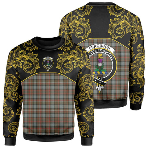 Image of Fergusson Weathered Tartan Clan Crest Sweatshirt - Empire I - HJT4