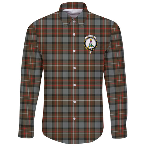 Image of Fergusson Weathered Tartan Clan Long Sleeve Button Shirt | Scottish Clan