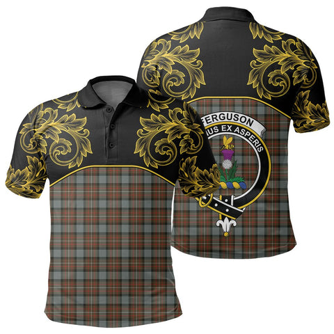 Fergusson Weathered Tartan Clan Crest Polo Shirt - Empire I - HJT4