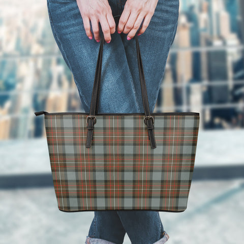 Image of Fergusson Weathered Tartan Leather Tote Bag (Large) | Over 500 Tartans | Special Custom Design