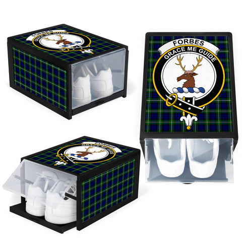 Image of Forbes Modern Clan Crest Tartan Scottish Shoe Organizers K9