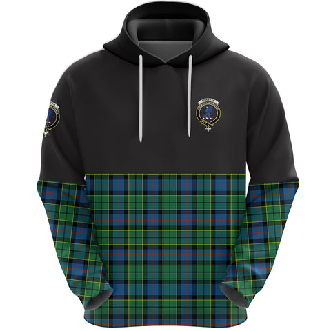 Forsyth Ancient Clan Hoodie Half Of Tartan