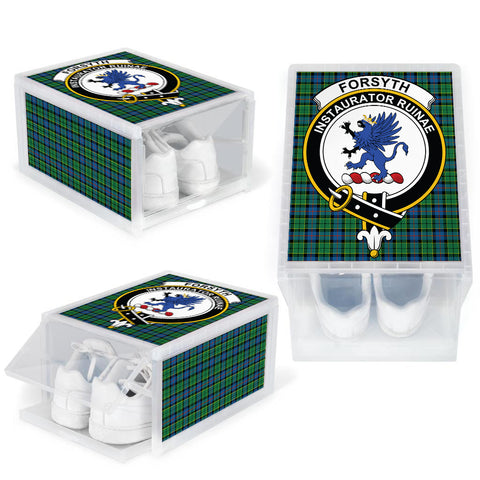 Forsyth Ancient Clan Crest Tartan Scottish Shoe Organizers K9